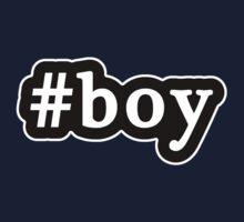 Boy - Hashtag - Black & White Kids Tee