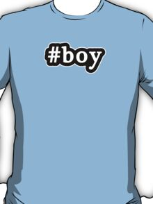 Boy - Hashtag - Black & White T-Shirt