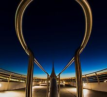 A fisheye view of theMilwaukee Art Museum ped walk at dawn by Sven Brogren