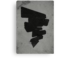 Misfits-Style Halftone Grunge Tornado Icon Canvas Print