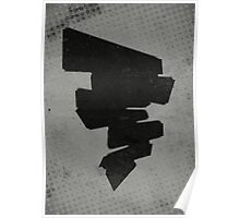 Misfits-Style Halftone Grunge Tornado Icon Poster