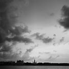 Clouds Over St. Louis Cathedral (B/W) - New Orleans, LA by Daniel  Rarela