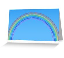 Snowflakes Rainbow Greeting Card