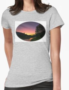 Illecillewaet River  sunrise Womens Fitted T-Shirt
