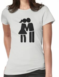 Couple kiss Womens Fitted T-Shirt