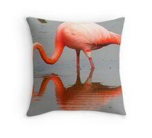 pink mirror image Throw Pillow