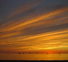 Summer Sunset at Pentwater Beach by Kathy Russell