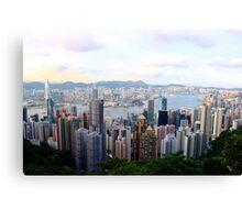 HK Panorama at Sunset V - Hong Kong. Canvas Print