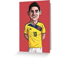 James World Cup Greeting Card