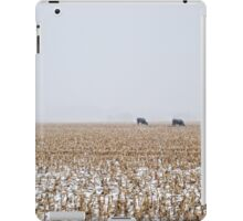 Cows in a Cornfield during Snowstorm iPad Case/Skin