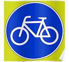 Sonderweg für Radfahrer. Poster
