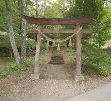 Takayama - Hida No Sato - Shrine Torii by Trishy