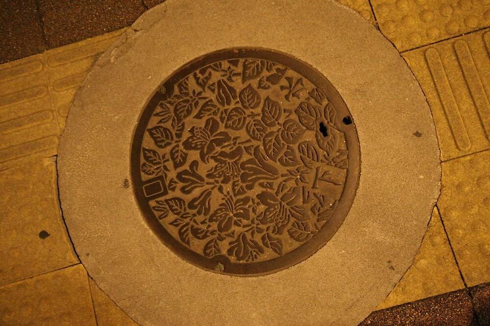 Takayama Manhole cover by Trishy