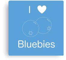 I Heart Bluebies Canvas Print