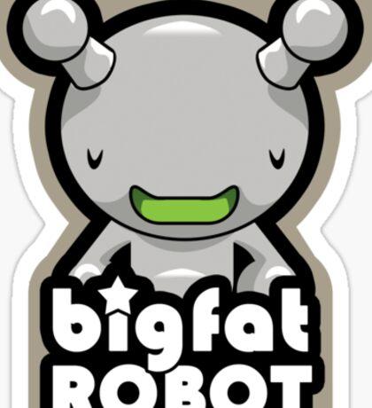 Big Fat Robot with text Sticker