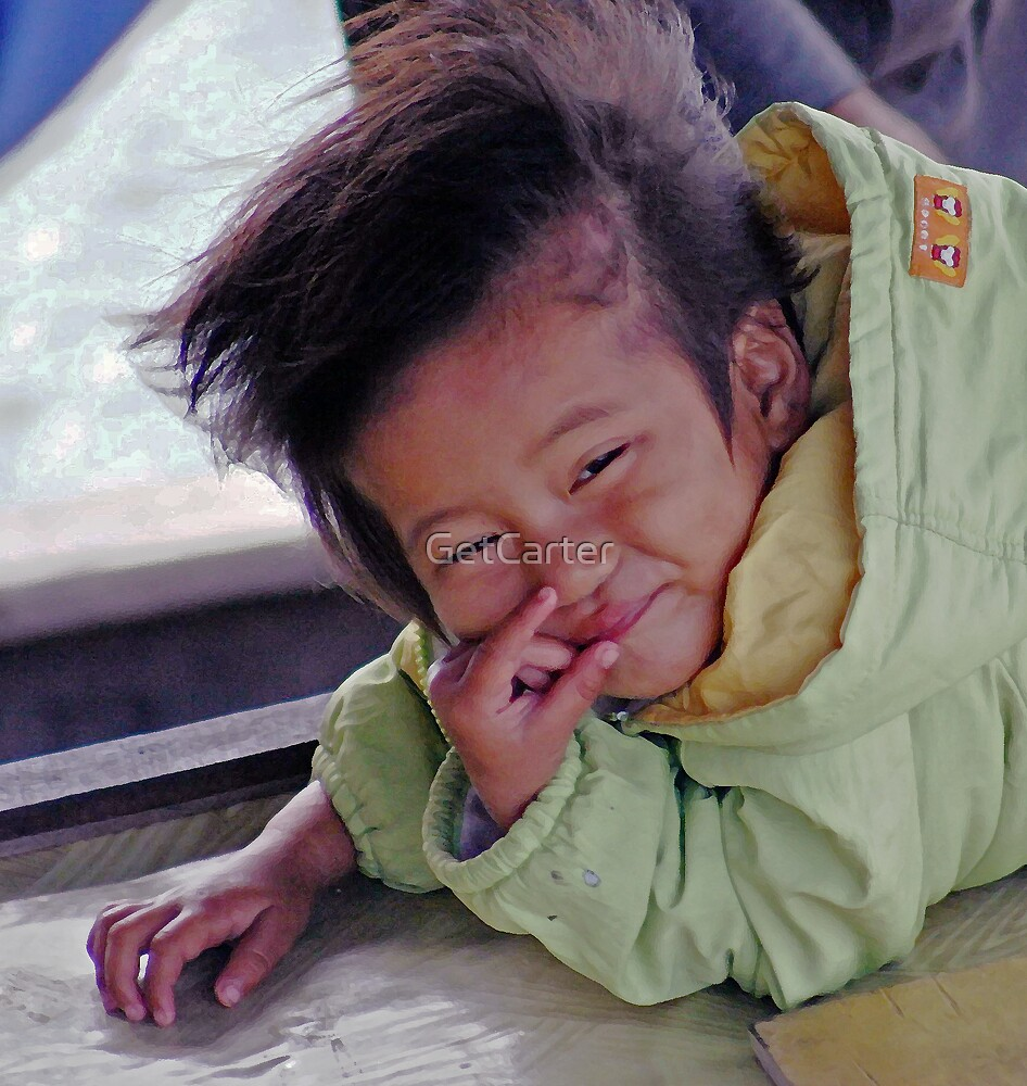 Vietnamese Boat Child by GetCarter