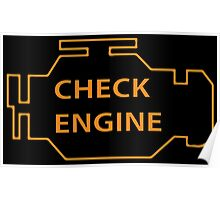 Check engine Poster