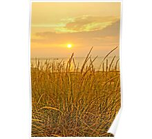 Sunset at Montague Beach Poster