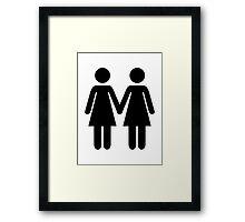 Lesbian couple Framed Print