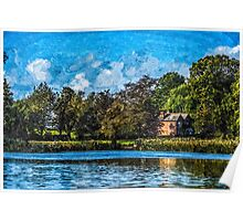 Artwork House on the Lake Poster