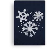 Misfits-Style Halftone Grunge Snow Icon Canvas Print