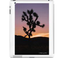 A desert sunset. iPad Case/Skin