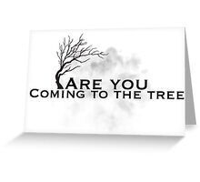 The hanging tree lyrics ( hunger games) Greeting Card