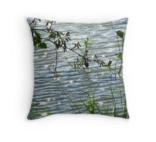 diamonds across the water Throw Pillow