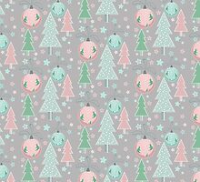 Christmas grey pattern by JuliaBadeeva