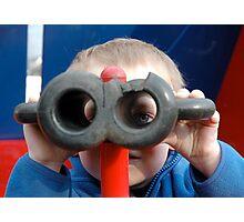 Child with Pretend Binoculars Photographic Print