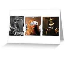 untitled triptych Greeting Card