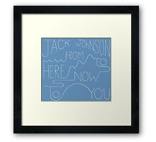 From Here To Now To You Framed Print