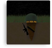 Carrot soldier Canvas Print