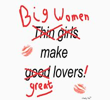 Big Women Make Great Lovers Men's Baseball ¾ T-Shirt