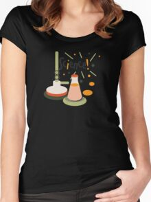 Bunsen and Beaker Women's Fitted Scoop T-Shirt