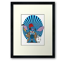 Doctor Who Stitch Framed Print