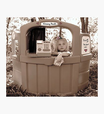 On Break At The Kissing Booth Photographic Print