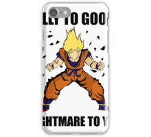 Goku powerup iPhone Case/Skin
