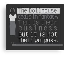 Dollhouse Canvas Print
