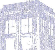 Who, I am Tardis Word Art by Joe Saylor