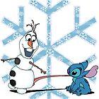 Olaf & Stitch by Skree