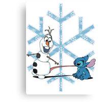 Olaf & Stitch Canvas Print