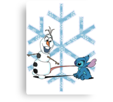 Olaf & Stitch Canvas Print