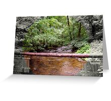 Lovely Stream from the Aira Force Waterfall - Lake District Greeting Card