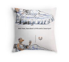 How about a smile? Throw Pillow