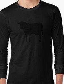 Black cow Long Sleeve T-Shirt