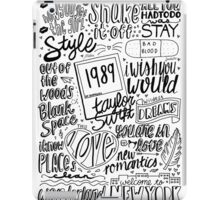 taylor swift collage iPad Case/Skin