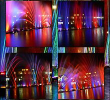 MONTAGE OF MUSICAL FOUNTAINS..... by AfricanImages