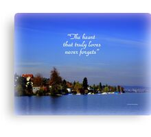 The Beauty of Zurisee Canvas Print
