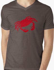 Red crab Mens V-Neck T-Shirt